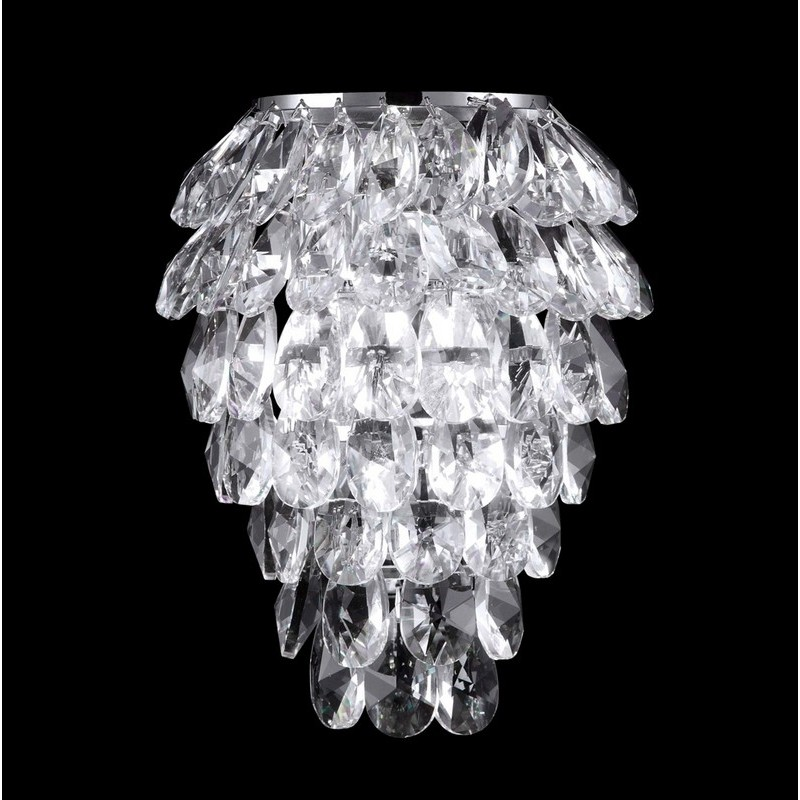 Фотография светильника CHARME AP2+2 LED CHROME/TRANSPARENT