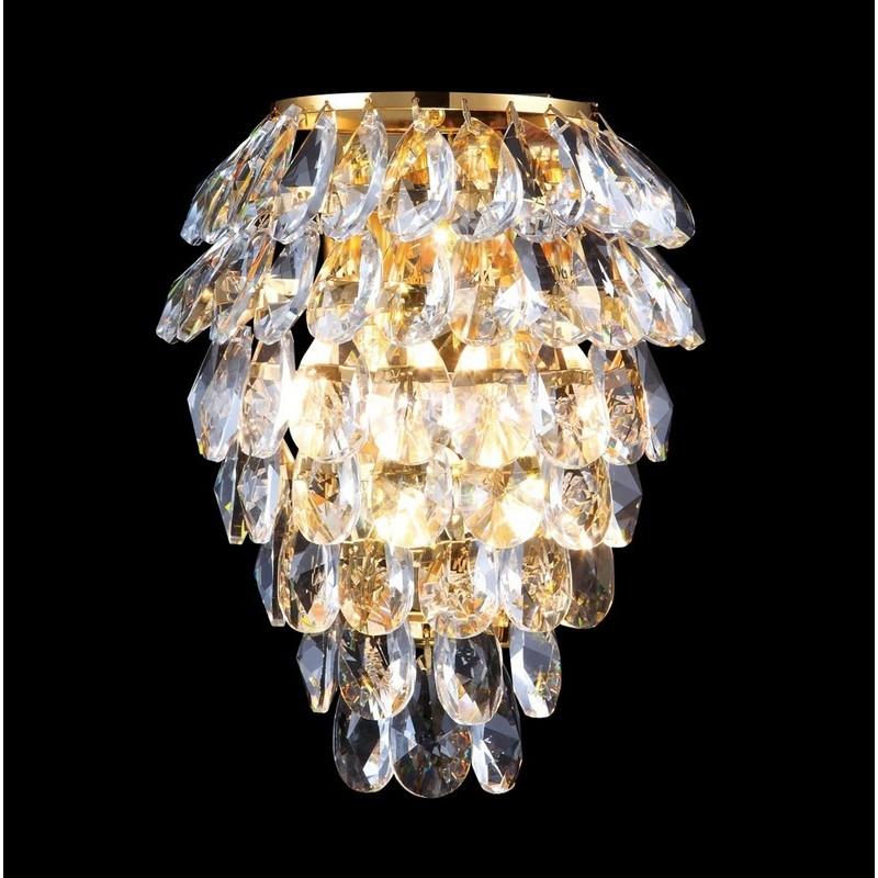 Фотография светильника CHARME AP2+2 LED GOLD/TRANSPARENT