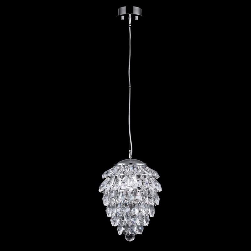 Фотография светильника CHARME SP1+1 LED CHROME/TRANSPARENT