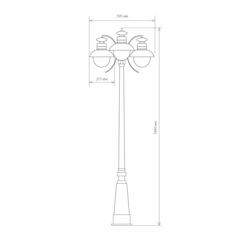 Светильник Elektrostandard Elektrostandard-GL 3002F/3 Black