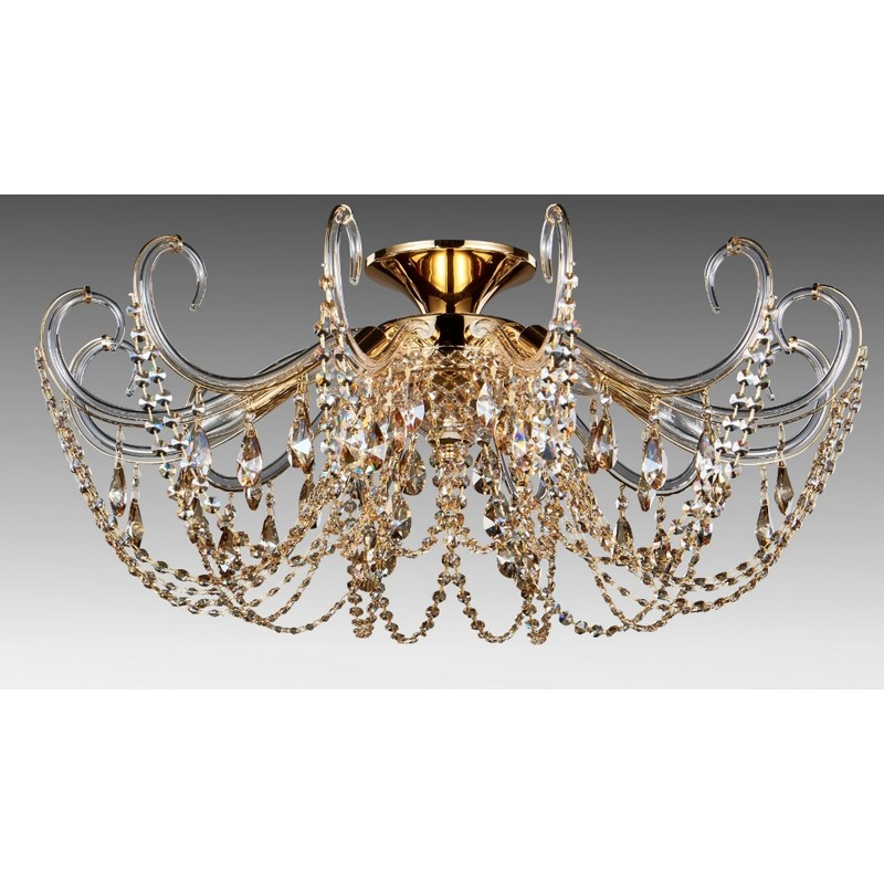 Светильник Crystal Lux CRYSTAL LUX-IMPERIA PL6 GOLD/AMBER