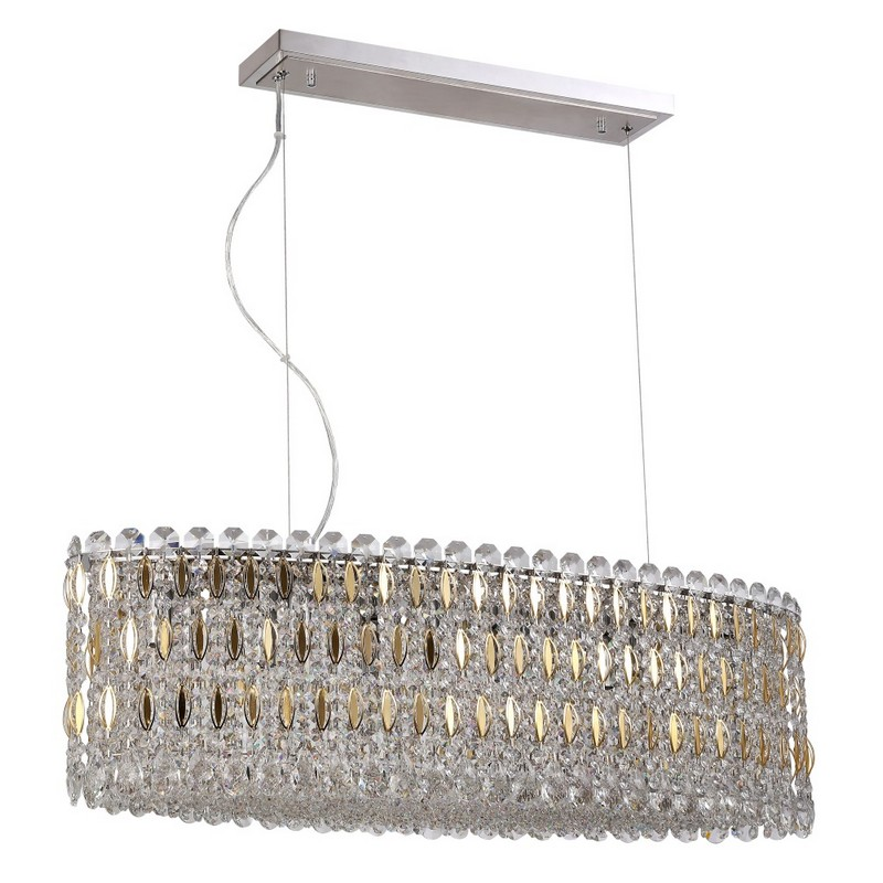 Светильник Crystal Lux CRYSTAL LUX-LIRICA SP10 L900 CHROME/GOLD-TRANSPARENT