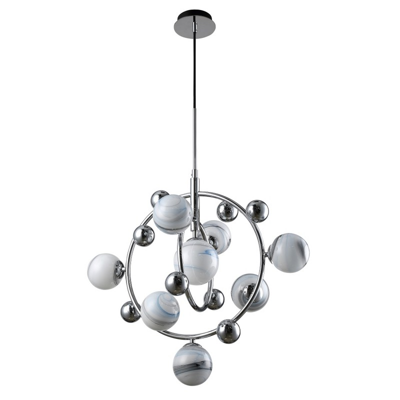 Светильник CRYSTAL LUX SALVADORE SP8V CHROME