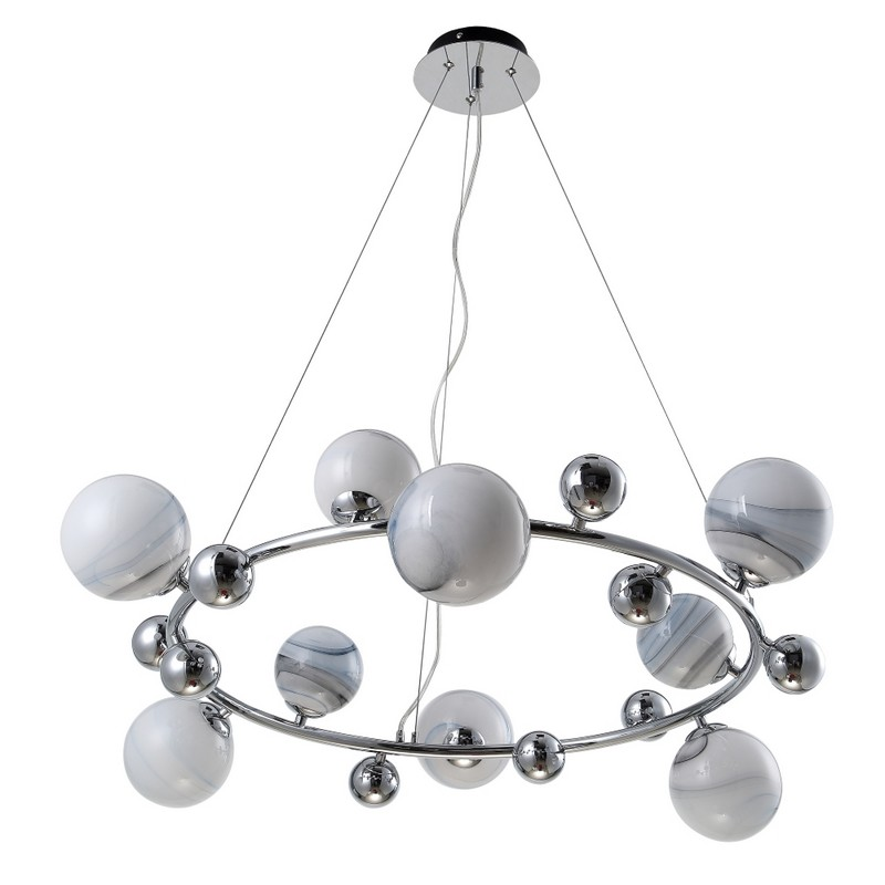 Светильник CRYSTAL LUX SALVADORE SP9H CHROME