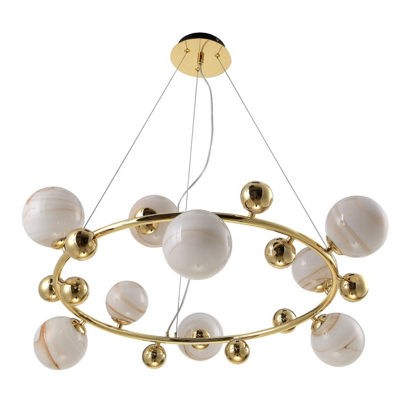 Светильник CRYSTAL LUX SALVADORE SP9H GOLD