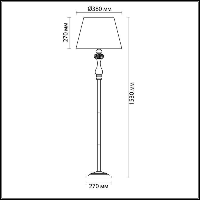 Светильник Odeon Light Odeon Light-3393/1F