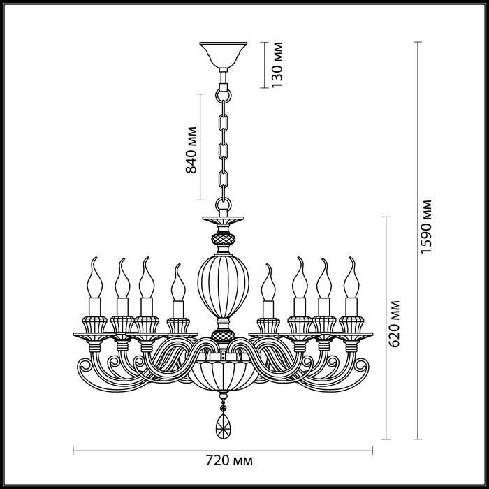 Светильник Odeon Light Odeon Light-3929/8