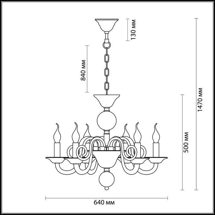 Светильник Odeon Light Odeon Light-3931/6