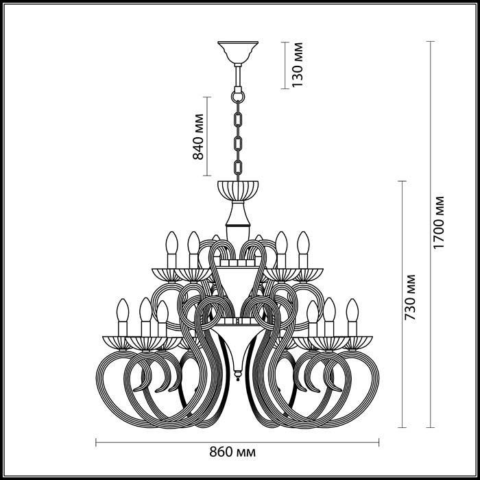 Светильник Odeon Light Odeon Light-3932/15