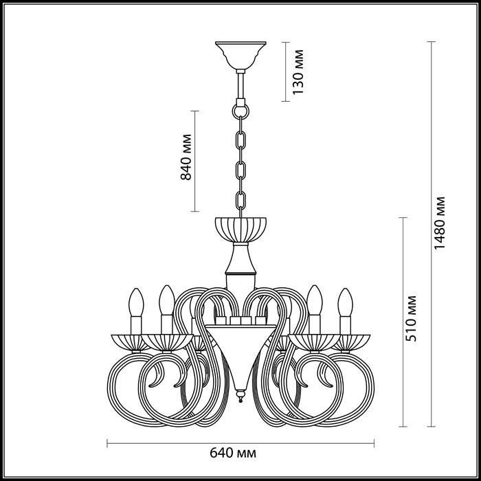 Светильник Odeon Light Odeon Light-3932/6