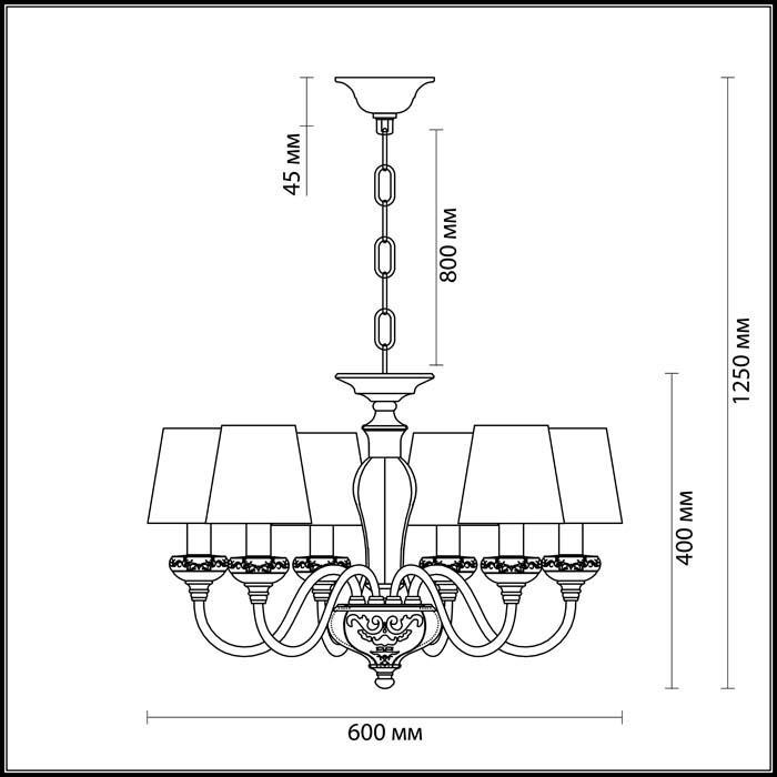 Светильник Odeon Light Odeon Light-3948/6