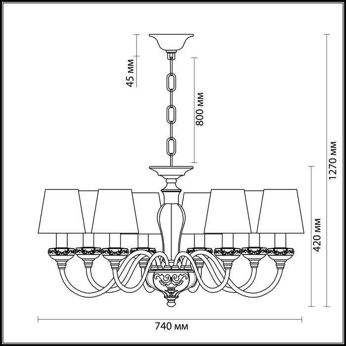 Светильник Odeon Light Odeon Light-3948/8