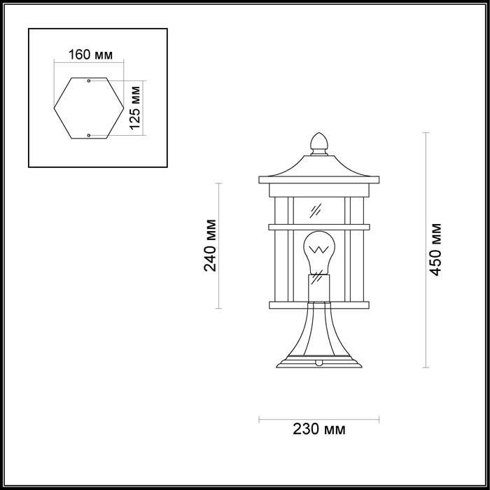 Светильник Odeon Light Odeon Light-4044/1B