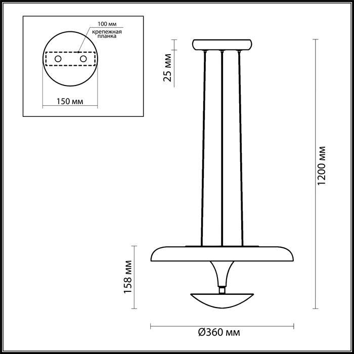 Светильник Odeon Light Odeon Light-4095/18L